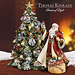 Thomas Kinkade Illuminated Advent Tabletop Christmas Tree